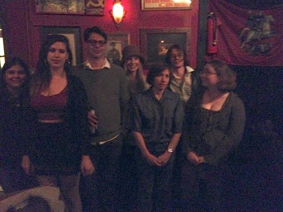 Left to Right: Vipra Ghimire, Lisa Marie Basile, Joe DiPonio, Rae Bryant, Cris Mazza, Justin Miracle Jones, and Lisa Dulin