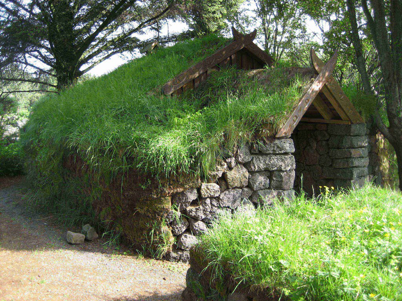 """""""Grass-roofed house"""" by D-Stanley is licensed under CC BY 2.0"""